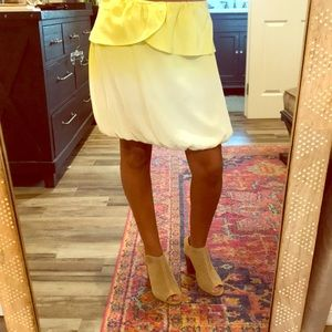 Small Silk Yellow and White Ombré Skirt
